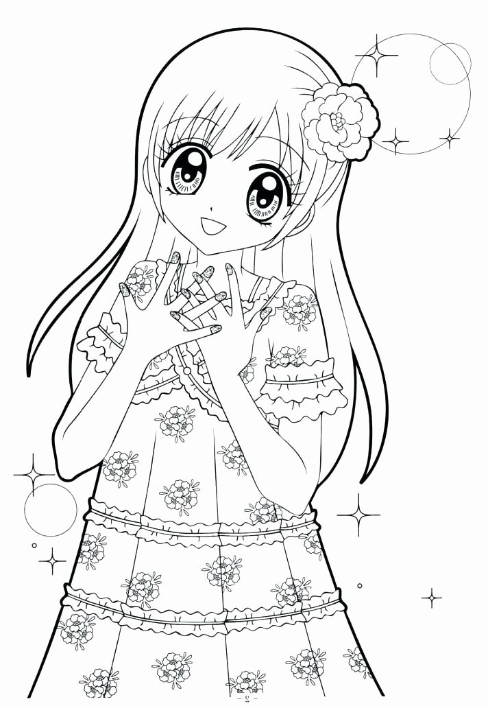 Anime Coloring Pages Girl Beautiful Cute Anime Coloring Pages To Print Printable Baby Girl Sgs Cute Coloring Pages Coloring Pages For Girls Cat Coloring Page