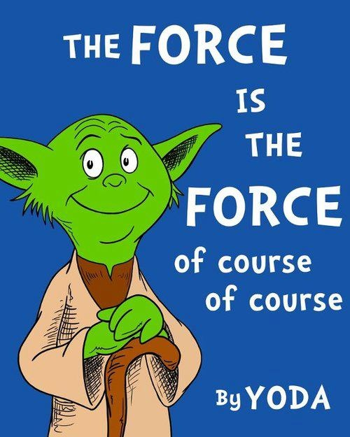 The force is the force of course of course!