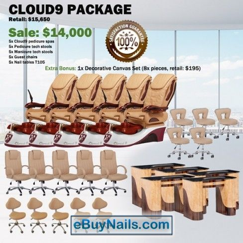 Cloud 9 Spa Pedicure Chair Package – Free shipping - $13450 ,  https://www.ebuynails.com/shop/cloud-9-spa-pedicure-chair-package-free-shipping/ #pedicurespa#pedicurechair#pedispa#pedichair#spachair#ghespa#chairspa#spapedicurechair#chairpedicure#massagespa#massagepedicure#ghematxa#ghelamchan#bonlamchan#ghenail#nail#manicure#pedicure#spasalon#nailsalon#spanail#nailspa#massagechair