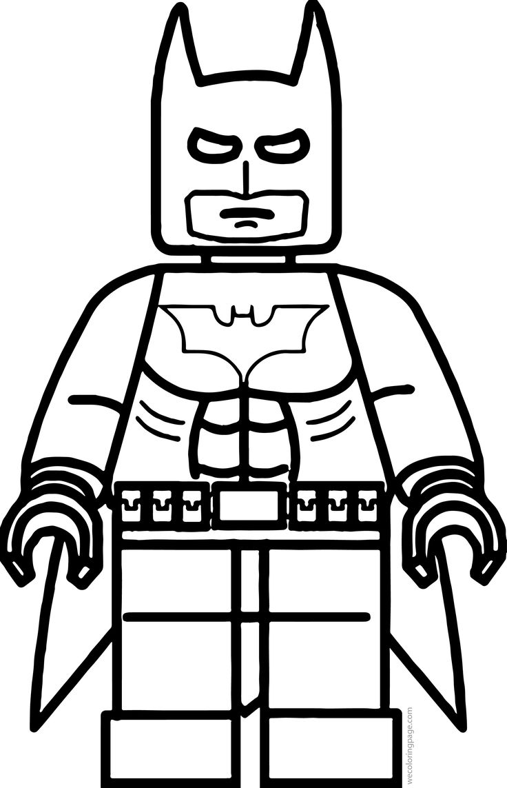 Lego Batman Coloring Page Lego coloring pages, Batman