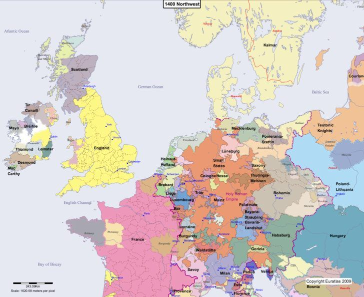 Maps of Europe century by century showing changing geo/political boundries. Fabulous for garb/persona research!
