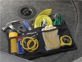 Small Tool Pouch with Zipper - for Car Trunk