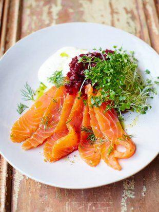 Super Quick Salmon Gravadlax   Fish Recipes   Jamie Oliver