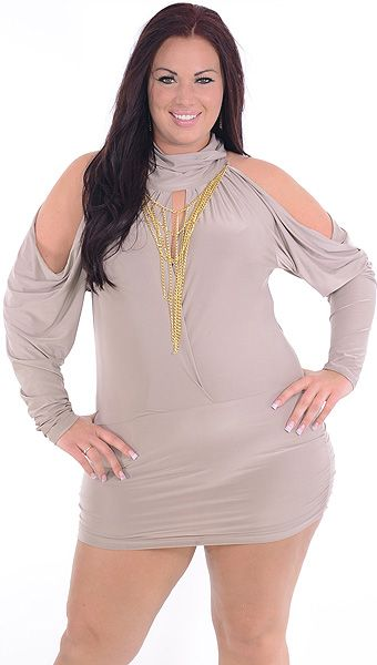 At Ease (Plus/Brown)-Great Glam is the web's best sexy plus size online store clothing website for 1X 2X and 3X clothes for women and juniors.