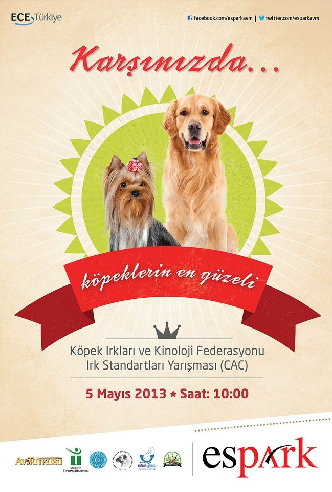Köpek Güzellik Yarışması 05 Mayıs 2013'te Espark'ta!