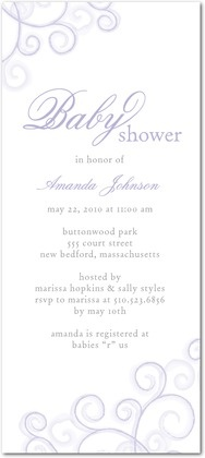 Studio Basics: Baby Shower Invitations - Soft Swirls: Iris by Tiny Prints