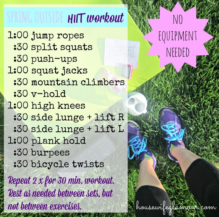 Spring At-Home HIIT Workout (no equipment needed!) housewifeglamour.com #FitFluential #HIIT