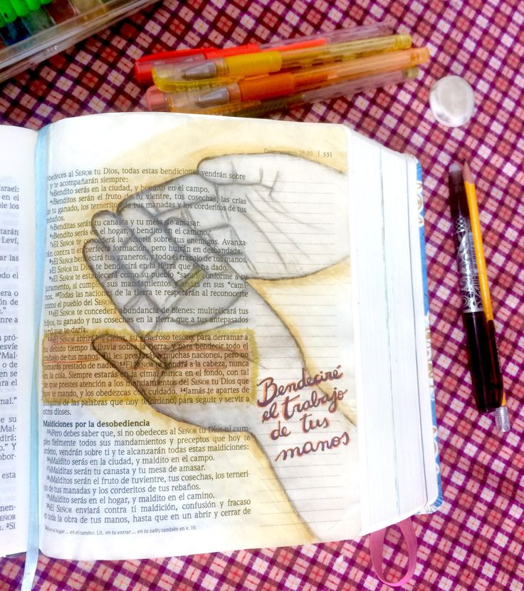 Bible Journaling español , ilustrar la Biblia, deuteronomio 28:8  ivanna banana blog #Biblejournaling, #ilustrarlaBiblia, #biblia, #diario creativo, dibujo, #manos, #deuteronomio 28:8 #Bible #illustrating #journaling