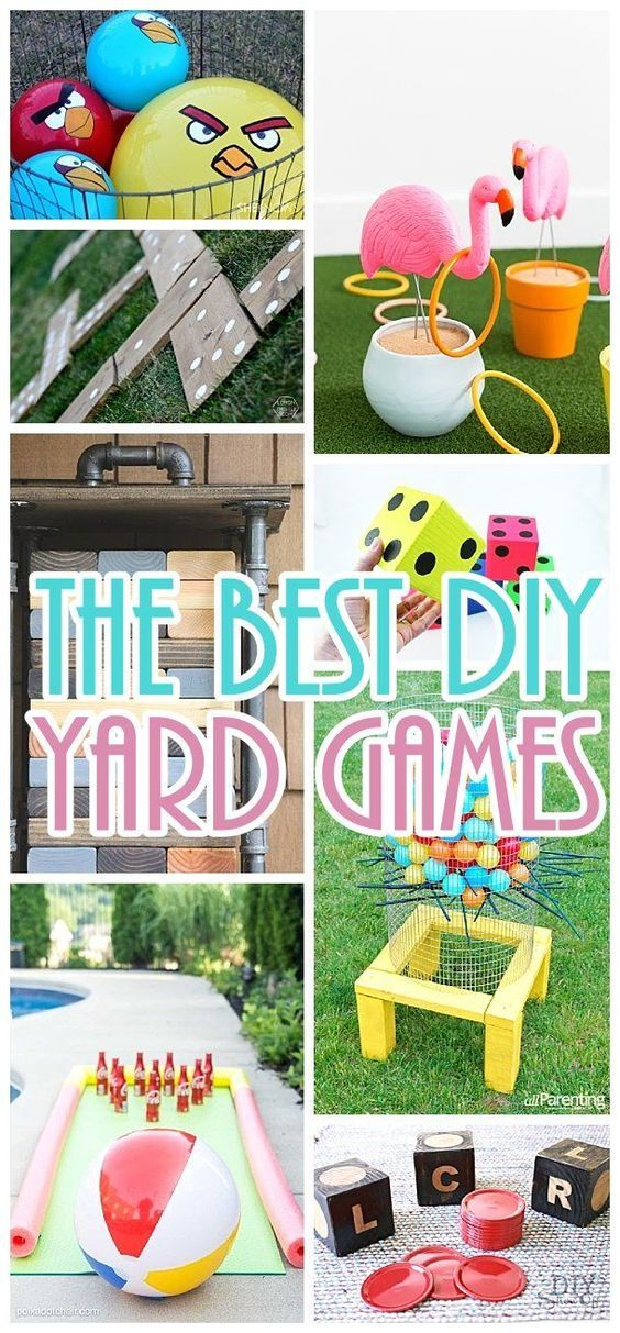 DIY Yard Games Projects - The BEST Do it Yourself outdoor games - Giant versions of the classics - perfect for cookouts - barbecues - potlucks and fun family backyard parties this Spring and Summer! #backyardgames #diyoutdoorgames #barbecuegames #barbecueideas #backyardpartygames #partygames #outdoorgames #diygames #yardgames #diyyardgames #summergames #summerparty #party #4thofJuly #fathersday #cookoutgames