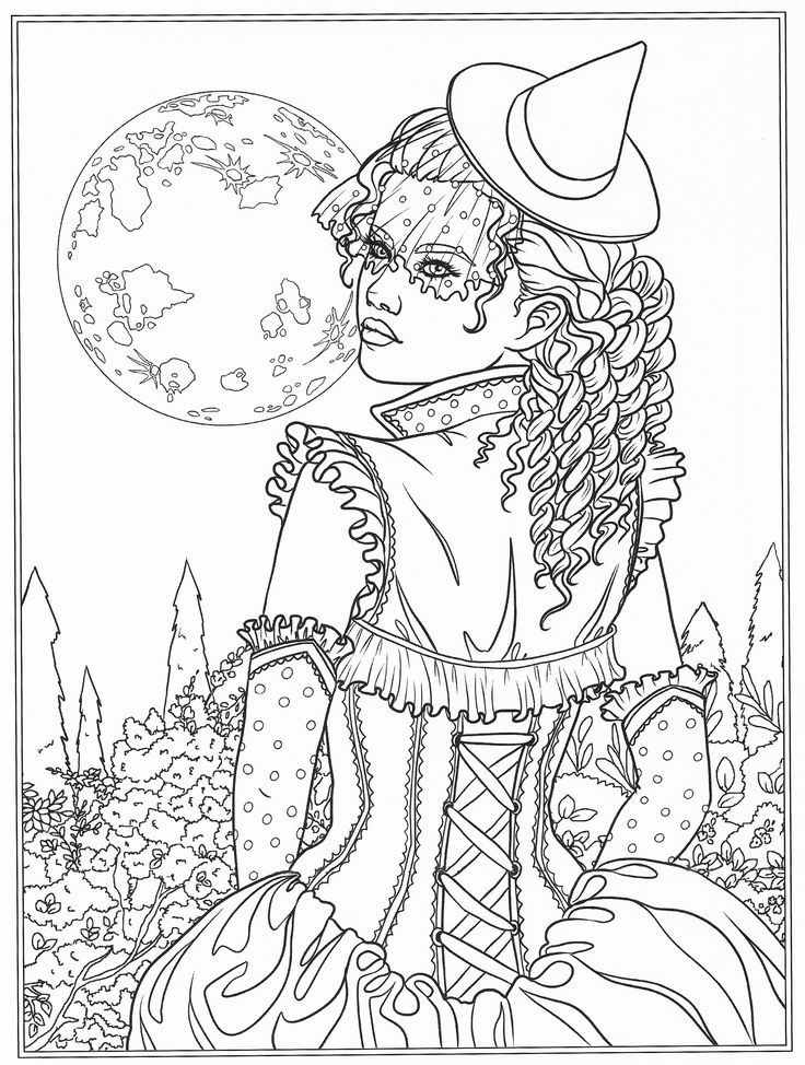Fantasy art coloring pages ~ 655 best Coloring pages to print - Fantasy images on Pinterest