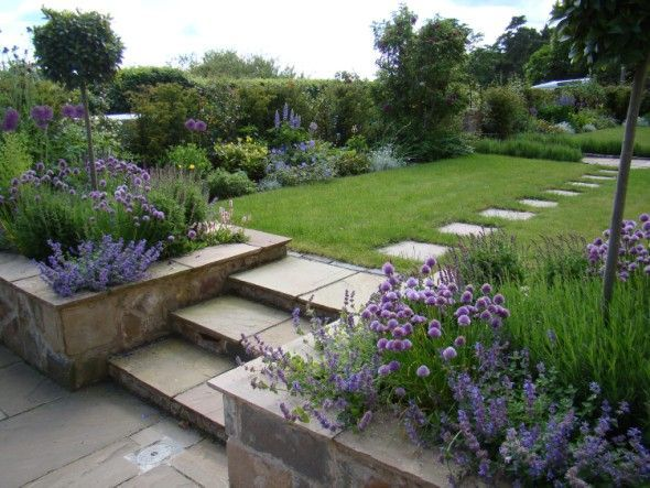 Image Detail For Formal Cottage Garden Landscape Design With Paved Patio Landscaping