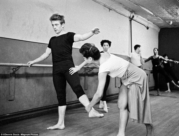 We love our Barre workouts even more after this seeing this pic of James Dean.