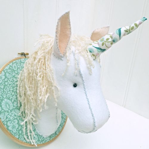 Unicorn Trophy Head - perfect for a nursery or play room :)