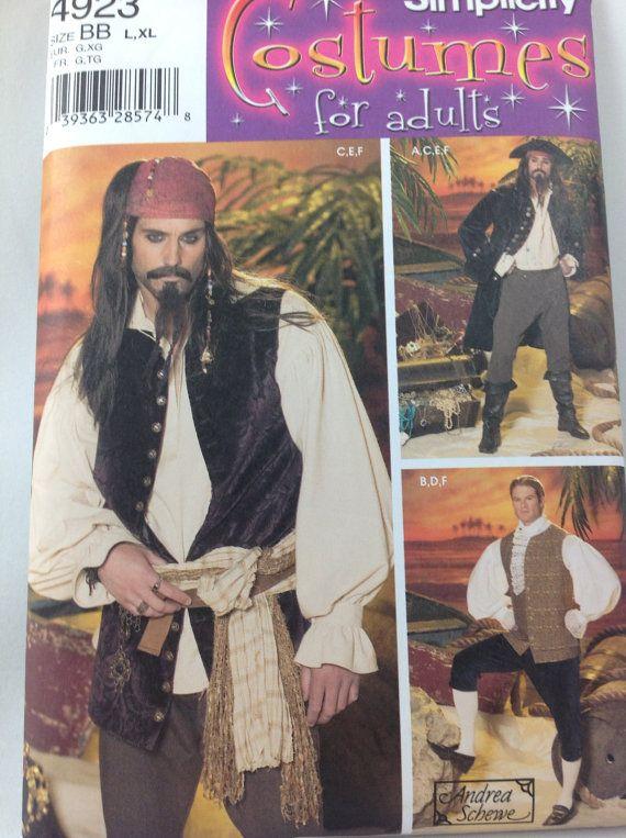 Simplicity 4923 mens pirate costume pattern