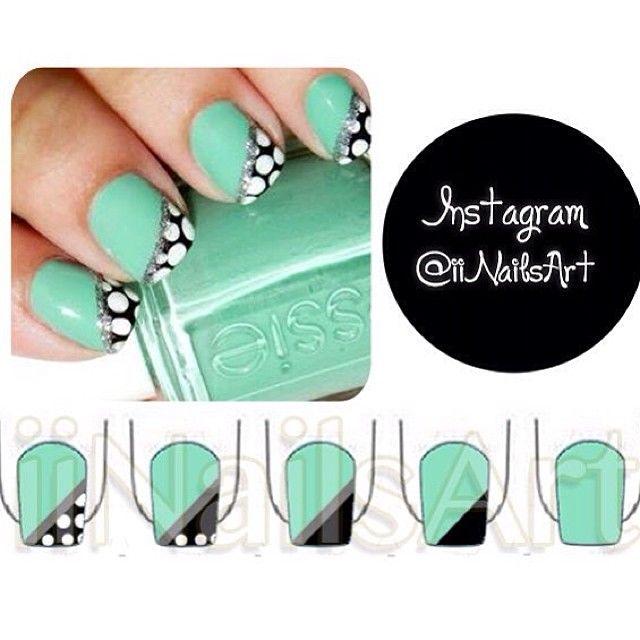Cute.... Funky nail art || مناكير سهل ||crd? || { #iiNailsArt } - @iinailsart- #webstagram