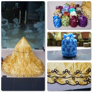 Mukena Korneli Serut For Traveling Material : Abutai, P=1meter 10cm Set : Tas + Mukena SMS/WA 085855741030 PIN BB By Request BUY NOW OR CRY LATER ;)