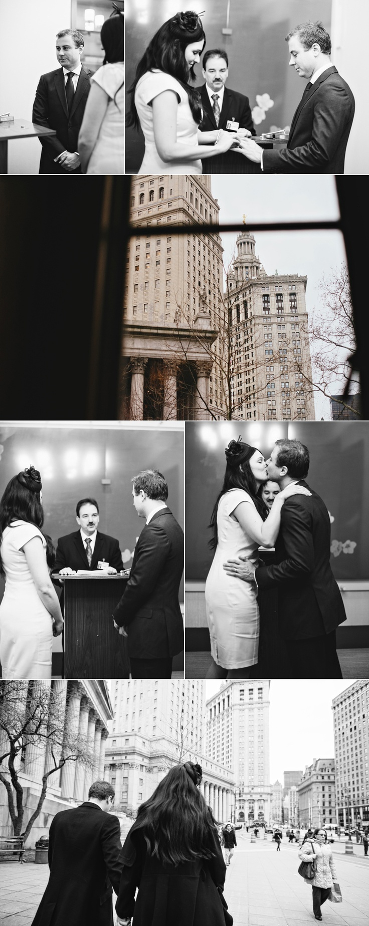 wedding ceremony new york city%0A Elopement in New York City  Civil wedding ceremony  Photo by Katie Jane  Photo