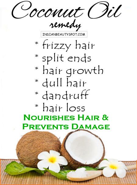 Coconut oil is great for your hair.  Nourish it for beauty!