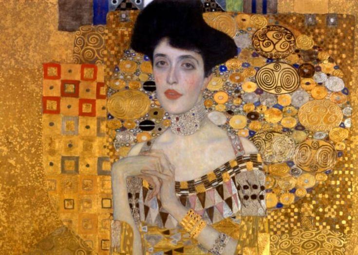 This portrait of Adele Bloch-Bauer I made by Gustav Klimt is now valued above $135 Million. # Neuegalerie #newyork #art #artist #portrait #painting #ronaldlauder