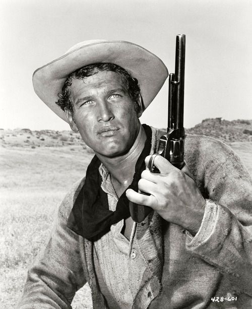 Paul Newman in 'The Left Handed Gun', 1958.- Paul did not like this movie, was embarrassed by it...and the joke is Billy the Kid was not left handed. :) LFJ