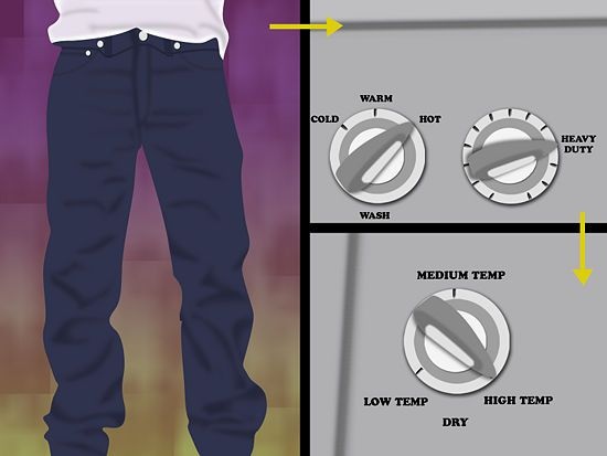 Here's some easy ways to shrink jeans.  Easiest way? Taking advantage of our generous return policy.