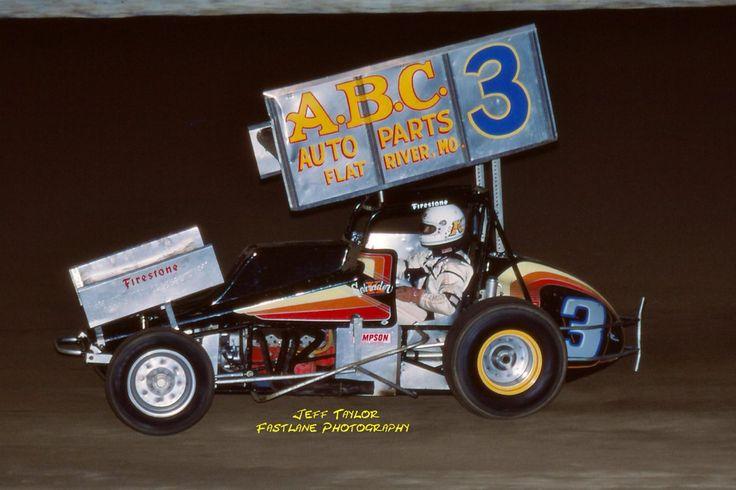 Ken Schrader in the A.B.C. Auto Parts #3 machine at I-70 Speedway - 1984
