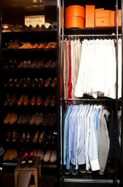 Men's Closet...I see LV and Hermes with a lot of French Cuffs and Lace Ups. Everyone should aspire to this level.