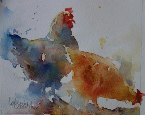 "Daily Paintworks - ""Chook Heaven"" - Original Fine Art for Sale - © Lorraine Lewitzka"