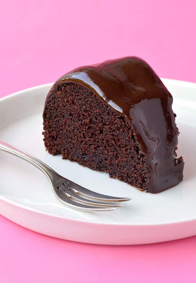 A Deliciously Rich Chocolate Sour Cream Bundt Cake Covered In A Creamy Two Ingredient Chocolate Sour Cream Cake Sour Cream Pound Cake Sour Cream Chocolate Cake