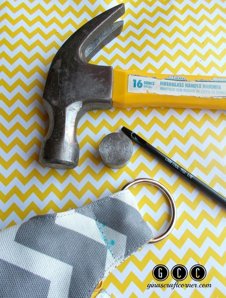 How to add rivets to your handmade handbags by Ginas Craft Corner @ ginascraftcorner.com