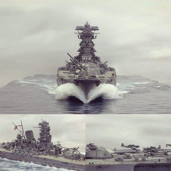 fc824a697 Beautiful!!! Battleship Yamato 1/350 diorama. Modeler Chris Flodberg ...