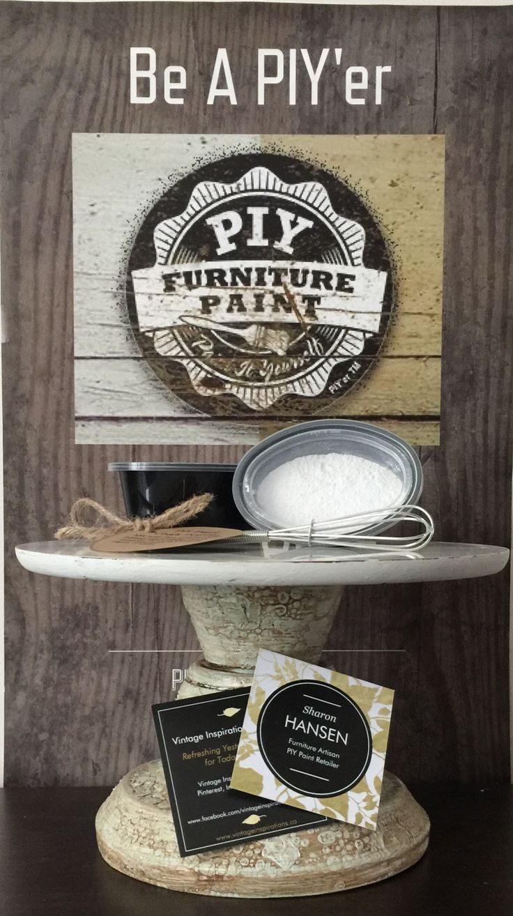 PIY Paint Starter Pack available locally in Ottawa contains PIY Paint Chalk Powder enought to mix with 8oz of any regular water based latex paint, a mini whisk and a 2.5oz size of PIY Clear Paste Wax to seal your project in. $20 CDN