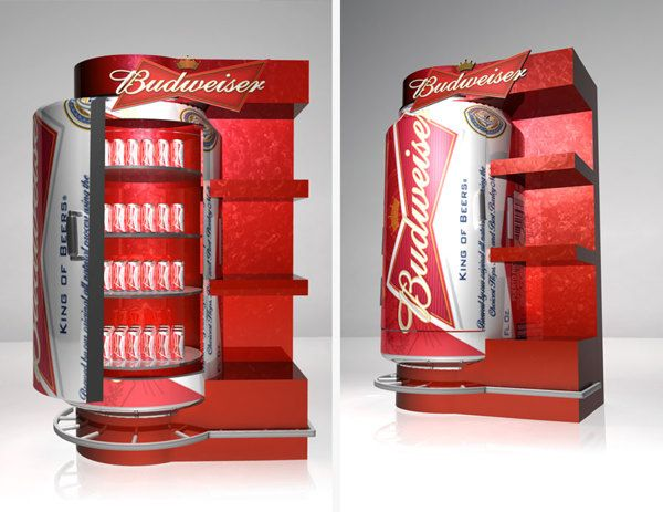 Point of Purchase Design | POP | POS | POSM | Retail Display |Exhibidores Budweiser - Stella Artois by Eddy Flores, via Behance
