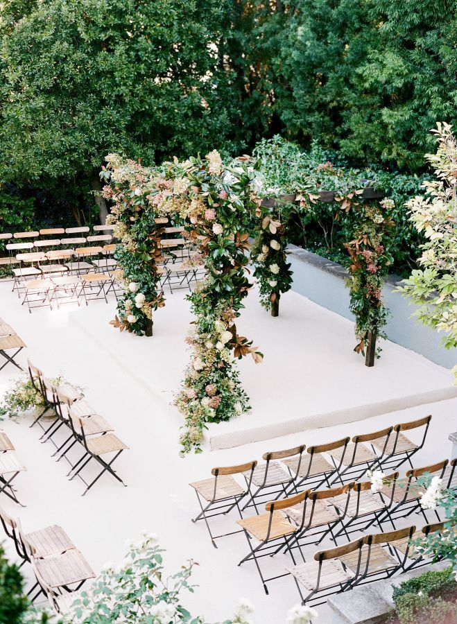 Floral wedding arch: http://www.stylemepretty.com/2017/05/17/garden-inspired-city-hall-wedding-in-san-francisco/ Photography: Jose Villa - http://josevilla.com/