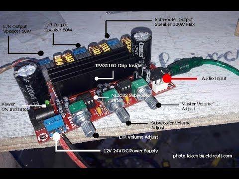 TPA3116 CLASS-D Amplifier 2.1 + Subwoofer
