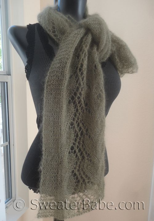 Gossamer One-Ball Lace Scarf Knitting Pattern - Enter to win this pattern! #SweaterBabe.com