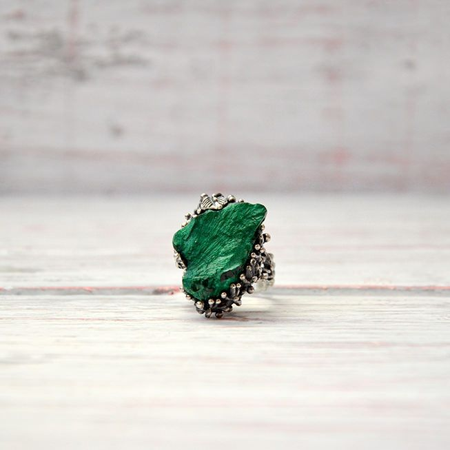 Кольцо «Одинокий лист»