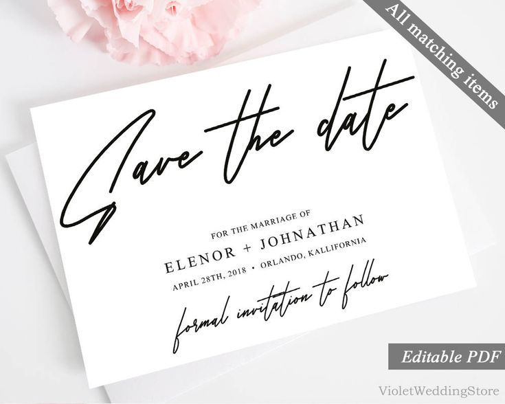 The  Best Modern Save The Dates Ideas On   Save The
