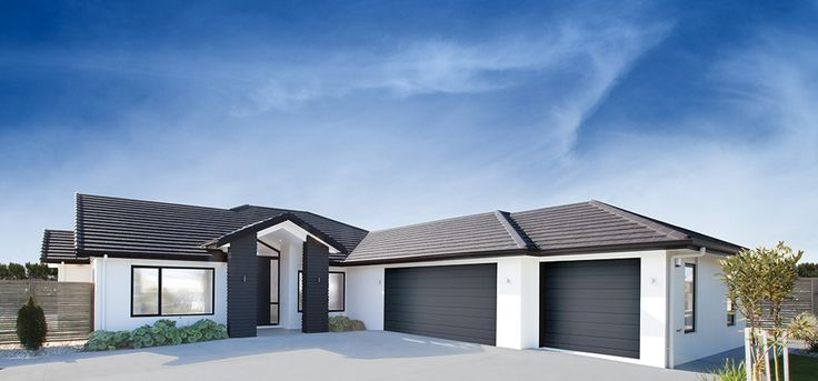 NZ one storey ranch style house exterior colour schemes - Google Search