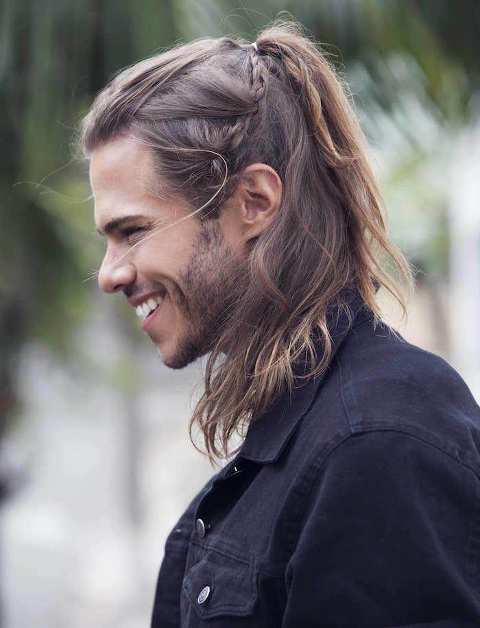 13+ Coiffure cheveux long homme des idees