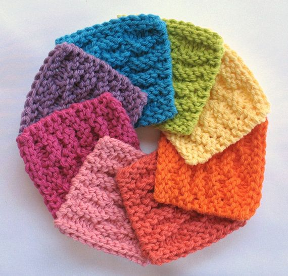 A veritable rainbow to brighten your bath...  Face Scrubbies Facial Cotton Pad Wash Cloth by SticksNStonesGifts, $7.50