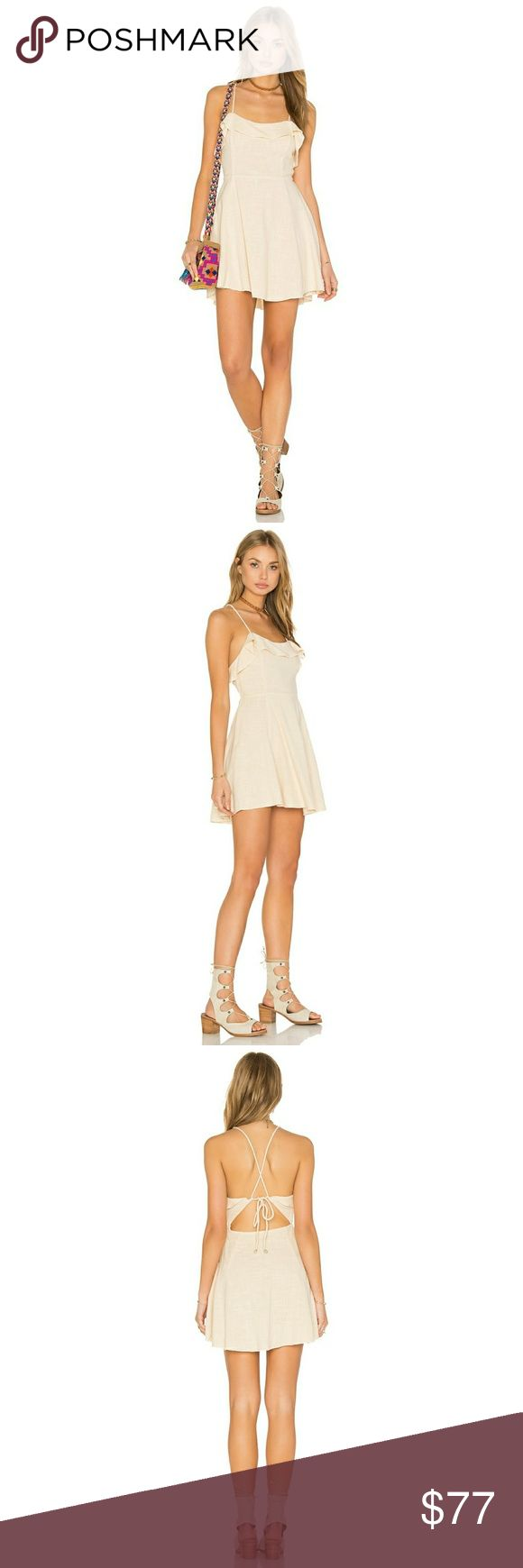 """Free People 100% Cotton Gauze Beige Mini Dress M Free People  More Than Mini Dress  New with tags!  Size Medium   100% cotton linen weave material. Unlined. Has button closures and also ties in the back. The back ties have little sea shells attached to the ends 🐚 very lightweight & breathable dress. Beige color.    Measurements: Bust: 19"""" Waist: 15"""" Length: approx. 35""""  Save 30% on any bundle of two or more items plus FREE Shipping on all bundles! Check out my closet - most of the items I…"""