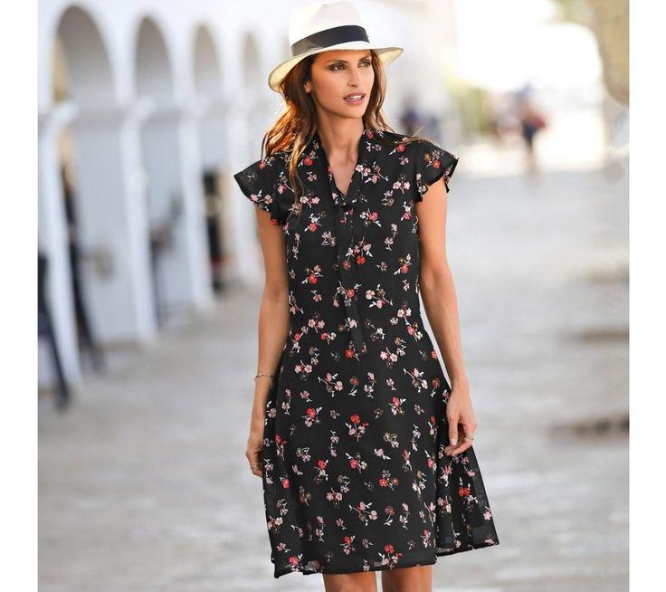 Voálové šaty s potlačou kvetín | blancheporte.sk #blancheporte #blancheporteSK #blancheporte_sk #spring #summer #wear