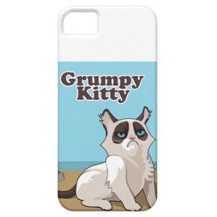 Grumpy kitty iPhone SE/5/5s case - cat cats kitten kitty pet love pussy