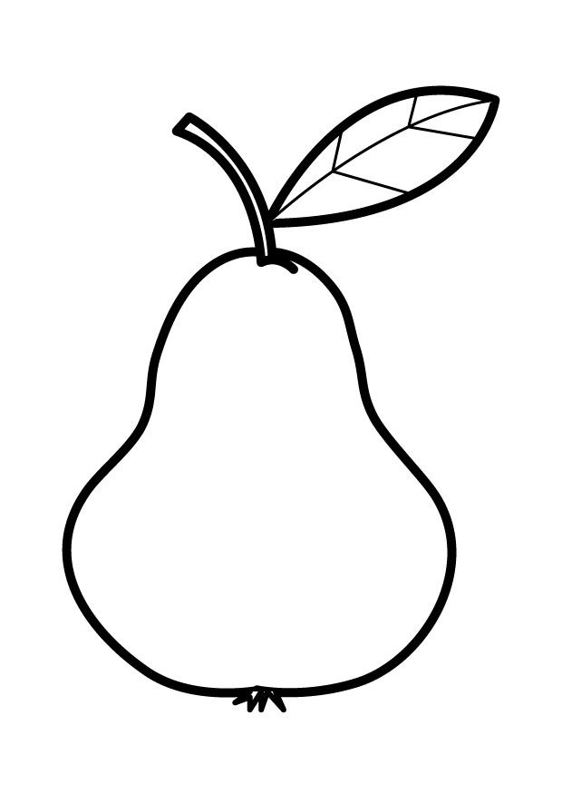 Coloring Page Pear Img 25449 Colour In Pages Pinterest Pear Coloring Page