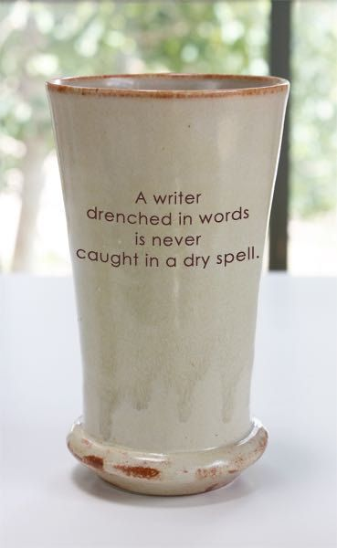 A Writer Drenched in Words is Never Caught in a by TheQuotedCup