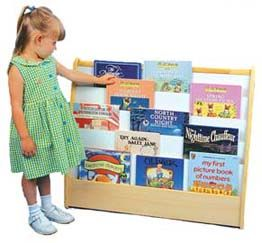 Book Display Shelves And Large Storage At Daycare Furniture Direct