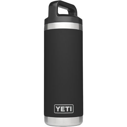 Yeti Rambler 18 oz Bottle Black - Thermos Cups And Koozies at Academy Sports