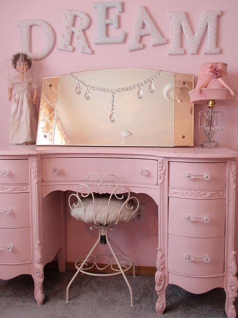 Pink love..girls room? I could see them growing up with this...1st~play dress-up 2nd~ Teens Omg scary