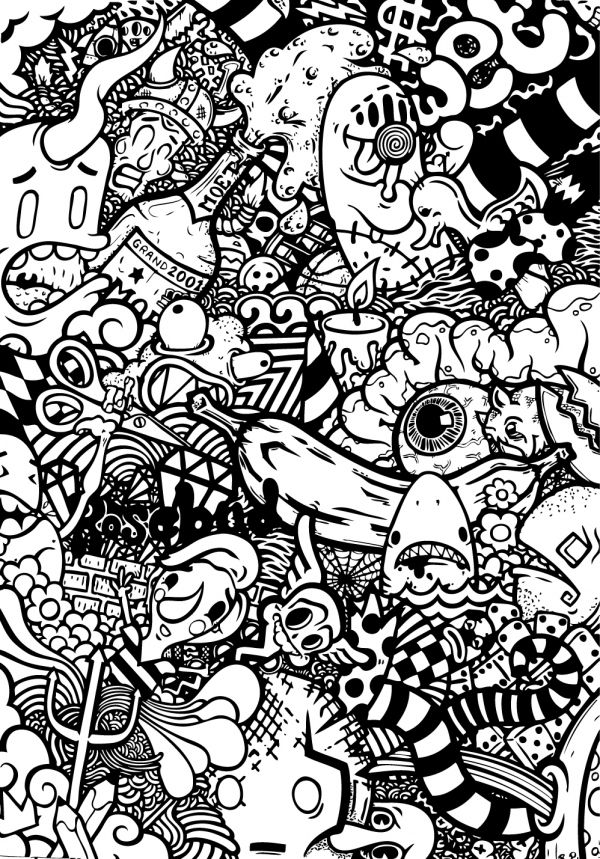 315 best Trippy/Psychedelic Coloring Pages images on ...